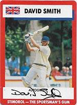 AUSTRALIA 1990 STIMOROL GUM MERV HUGHES CRICKET TRADE CARD No 13