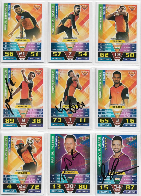 NAZIM'S CRICKET PAGE 2 (Cigarette/Trading Cards)